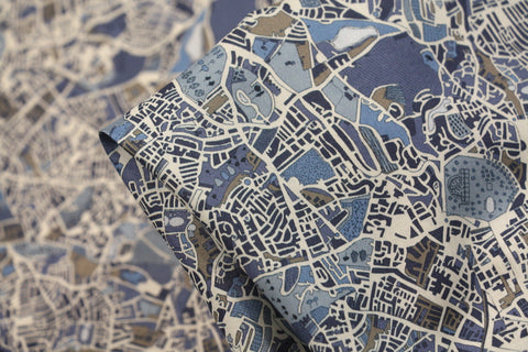 London Fields Blue - Liberty Tana Lawn