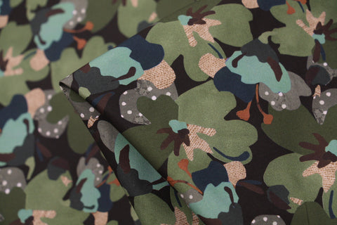 Treloyan Green Poplin - Liberty Fabric
