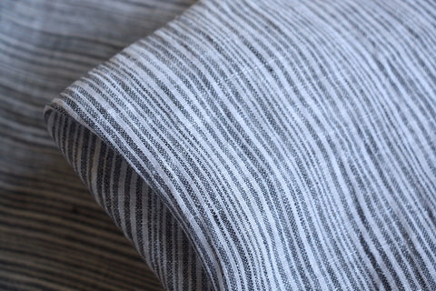 Denim Stripe Washed Linen Gauze