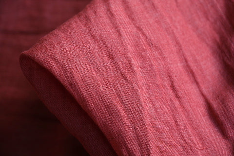 City Red Washed Linen Gauze