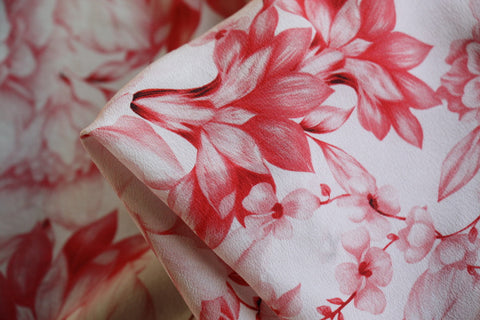 Rambling Rose Silk Crepe De Chine