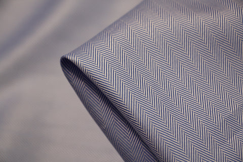 Blue Herringbone Shirting