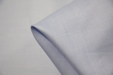 Light Blue Herringbone Shirting