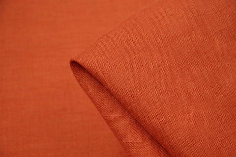EU Burnt Orange Washed Linen