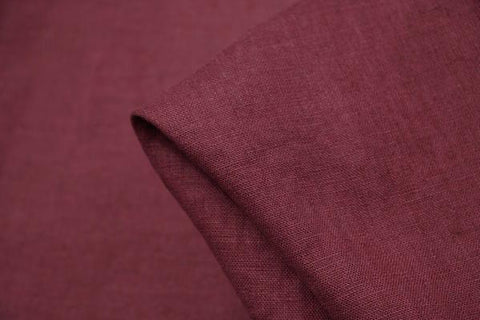 EU Bordeaux Washed Linen