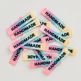 "Sewing Labels: ""HANDMADE"" Rainbow - Woven Sewing Labels 8 Pack"