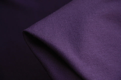 Bamboo Jersey Knit - Eggplant