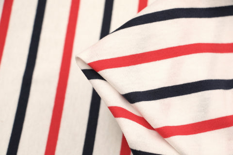 Mimasu Wide Line - Navy/Red Stripe