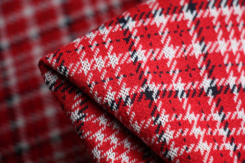 Alexa Red Check Knit