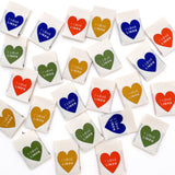 "Sewing Labels: ""I LOVE LINEN"" - Woven Sewing Labels 8 Pack"