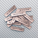 "Sewing Labels: ""One Of A Kind"" - Woven Sewing Labels 8 Pack"