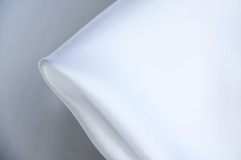 White Silk Satin - 22mm