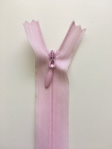 "Invisible Zipper 20cm (9"") - Baby Pink"