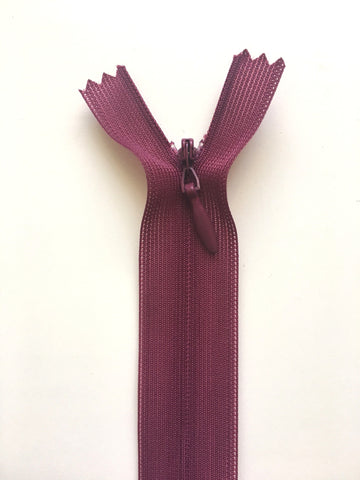 "Invisible Zipper 20cm (9"") - Wine"