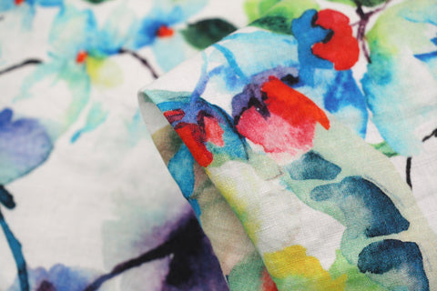 Summer Dream Washed Printed Linen