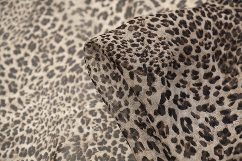 Snow Leopard Silk Georgette