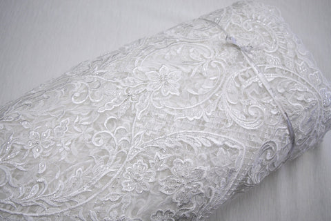 Petra Ivory Beaded Lace