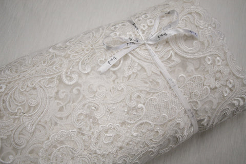 Casta Ivory Embroidered Tulle