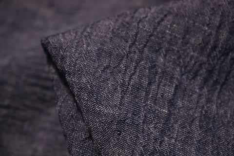 Navy Crush - Crinkle Linen