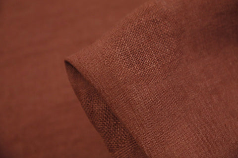 Rust Ring Around Jacquard Linen
