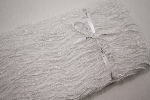 Mila Beaded Tulle - Natural (Ivory)