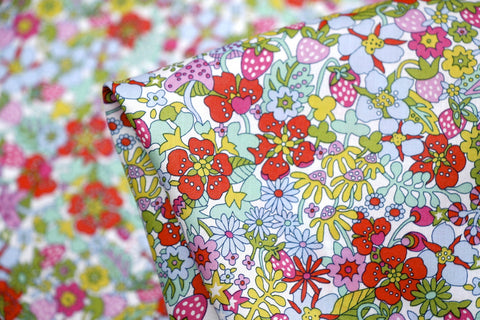 Red Flower Tops - Liberty Of London