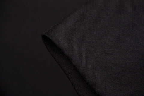 Bamboo Jersey Knit - Black (250gsm)