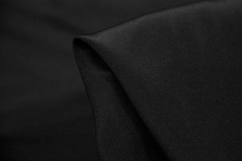 Paris Black Crepe De Chine