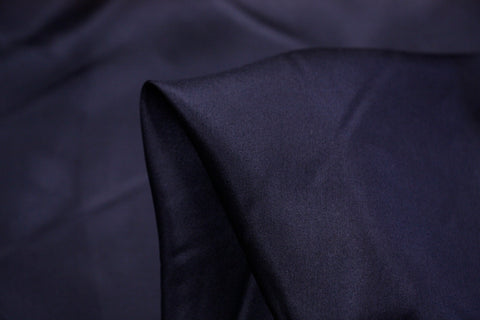 French Navy Silk Habutai