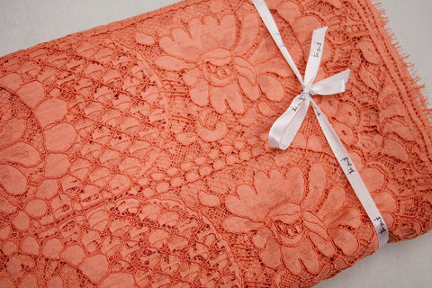 Melon Corded Lace