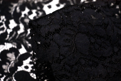 Cut Out Black Lace