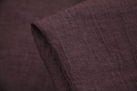 Mulberry Crush - Crinkle Linen