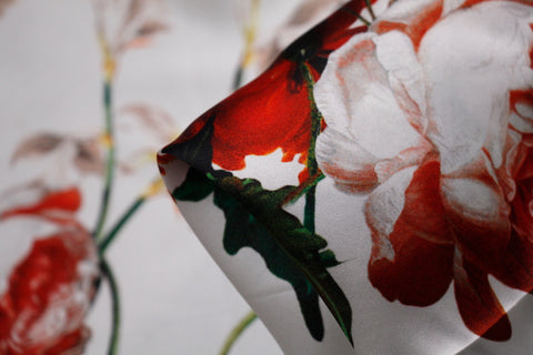 Rose Rosse - Silk Satin