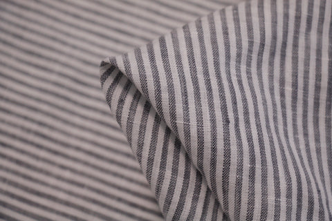 Ash Stripe Washed Linen