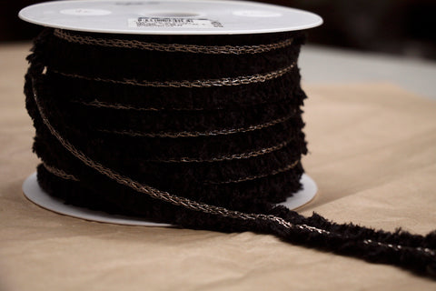 Black/Bronze Chain Braid Trim