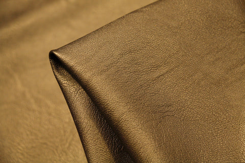 Brass Faux Leather