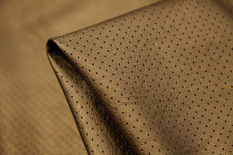 Brass Perforated Faux Leather