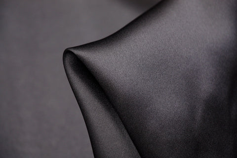 Charcoal Silk Satin - 22mm