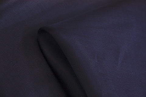 French Navy Silk Organza