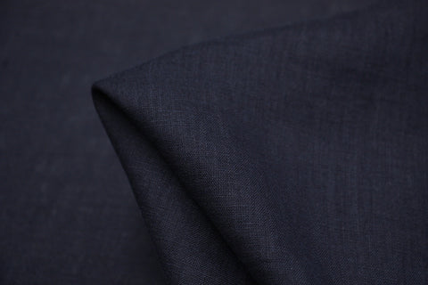 Florence French Navy - Enzyme Washed Linen