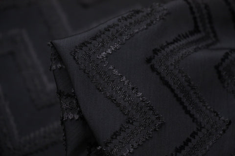 Black Chevron Jacquard