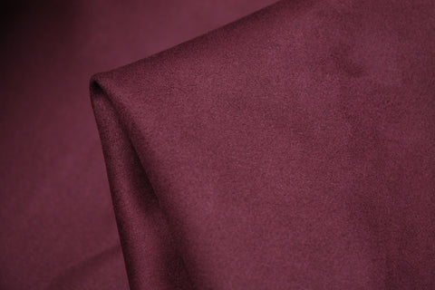 Scuba Backed Suede Plum