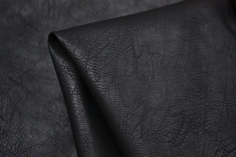 Pebbled Faux Leather Black