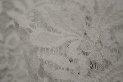 White Lacey Secrets - Panel Length Only