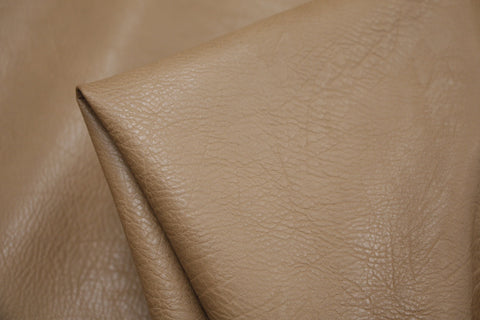 Pebbled Faux Leather Tan