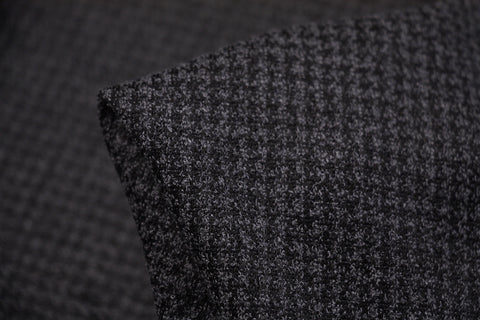 Checkerboard - Grey Jacquard Knit