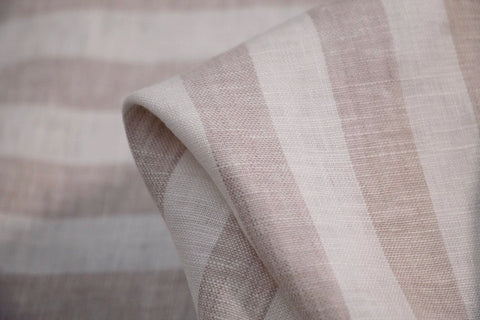 Demure Stripe Washed Linen