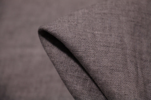 Smooth Grey Washed Yarn-dyed Linen
