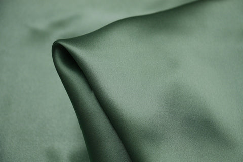 Bamboo Green Silk Satin