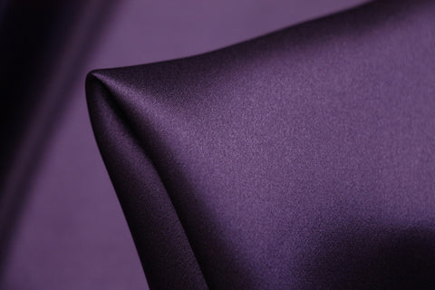 Regal Purple Silk Satin